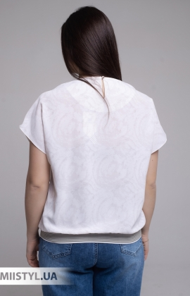 Блуза Merkur 0926111 Молочный/Хаки/Принт