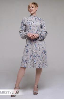 Платье GrimPol 2110 Оливковый/Принт