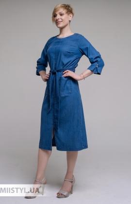 Платье DZYN 9042 Джинсовый
