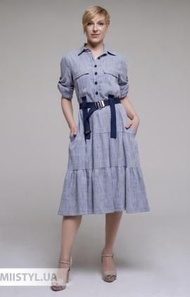 Платье La Julyet 6719 Синий/Клетка