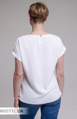 Блуза F&K 4002 Молочный/Малиновый/Принт