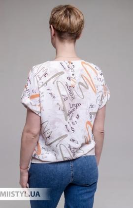 Блуза Merkur 0865103 Белый/Оранжевый/Принт