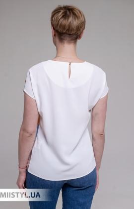 Блуза Merkur 0915104 Белый/Терракотовый/Принт