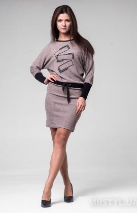 Платье La Fama LF-1428 Бежевый/Меланж