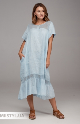 Платье Miss Cocco 6166 Голубой
