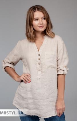 Блуза Zelante 3455 Бежевый