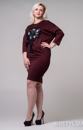 Платье La Fama 1394-B Бордовый