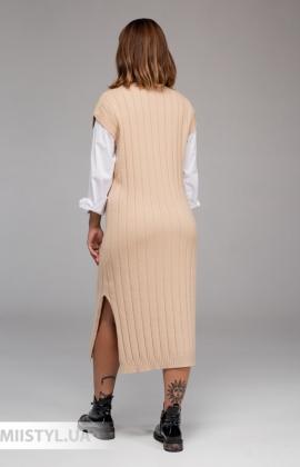 Платье J&J 370224 Бежевый
