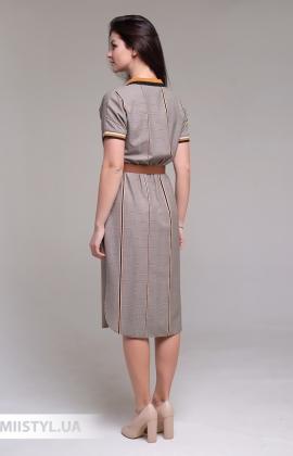 Платье Lady Morgana 5032 Бежевый/Терракотовый/Клетка