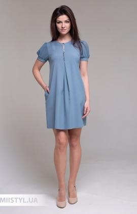 Платье La Fama LF-1522 Серо-голубой