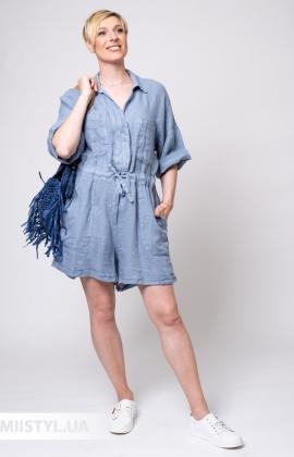 Комбинезон Miss Cocco 6095 Серый/Голубой