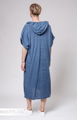 Платье Puro Lino 8723 Джинсовый