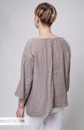 Блуза Puro Lino 8704 Темно-бежевый