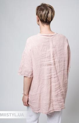 Блуза Miss Cocco 6037 Пудра/Черный/Полоска