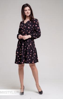 Платье GrimPol 2005 Черный/Розовый