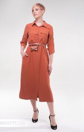 Платье DZYN 9065 Коричневый