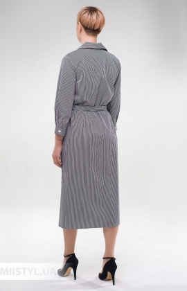 Платье Effective 12079 Черный/Белый/Полоска