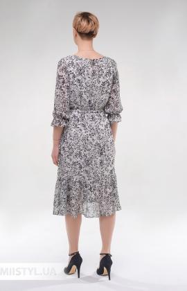 Платье Effective 12027 Белый/Принт