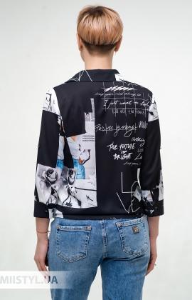 Блуза Meissi 5006 Черный/Белый/Принт