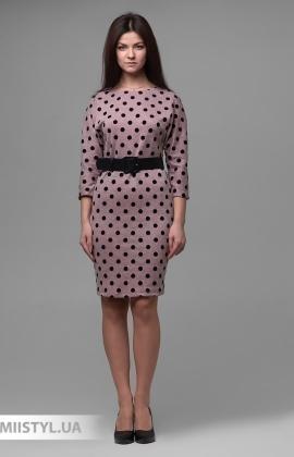 Платье F&K 3443 Пудра/Черный/Горох