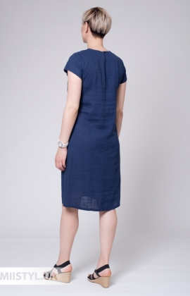 Платье Рута С 4361ЛН Темно-синий