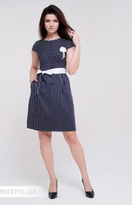 Платье Lady Morgana 5048 Темно-Синий/Белый/Полоска