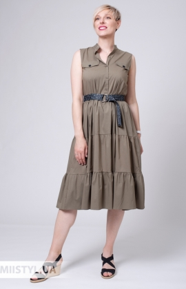 Платье Asil 960-20750 Хаки