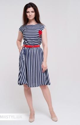 Платье Lady Morgana 5045 Синий/Белый/Полоска