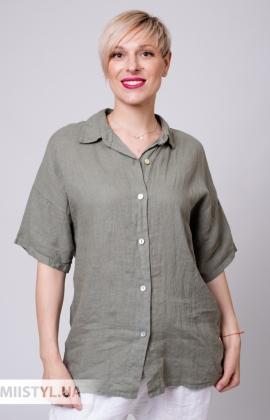 Блуза Puro Lino 8824 Хаки
