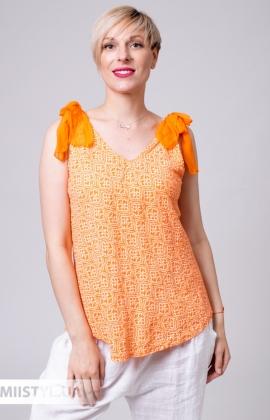 Майка Miss Cocco 6123A  Оранжевый/Принт
