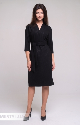 Платье Merkur 11005 Черный/Люрекс