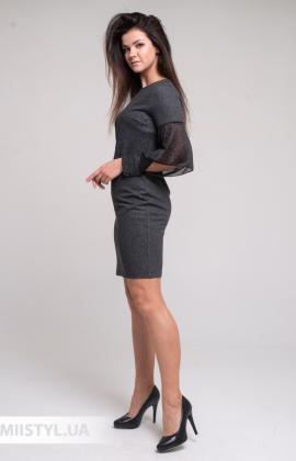 Платье Merkur 11025 Темно-серый