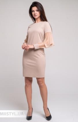 Платье Merkur 11025 Бежевый