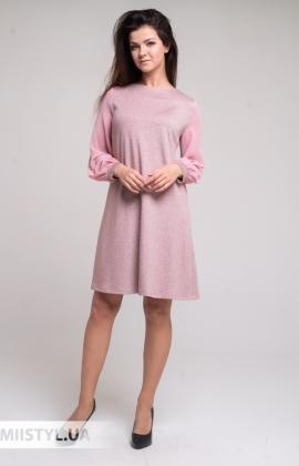 Платье Merkur 11020 Розовый/Люрекс