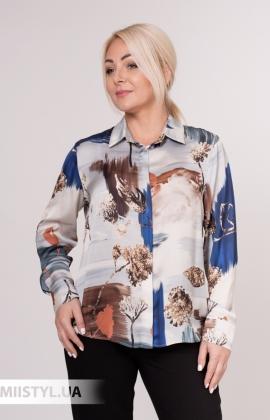 Блуза Merkur 0075133 Серый/Терракотовый/Принт