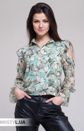 Блуза Joleen S21-B101DV Мятный/Принт