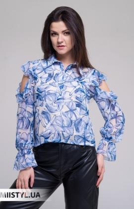 Блуза Joleen S21-B101DV Голубой/Принт