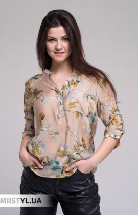 Блуза Lara LA2207 Бежевый/Принт