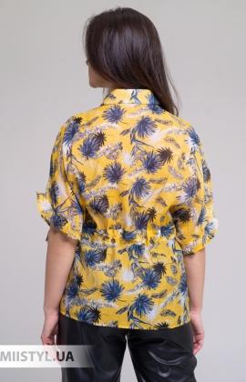 Блуза Lara LA2048 Желтый/Принт