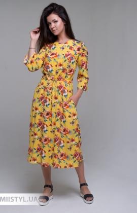 Платье J.London 61731 Желтый/Принт