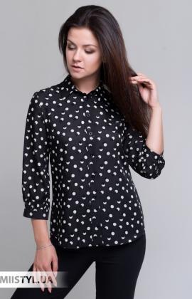 Блуза Merkur 0485013 Черный/Белый/Горох